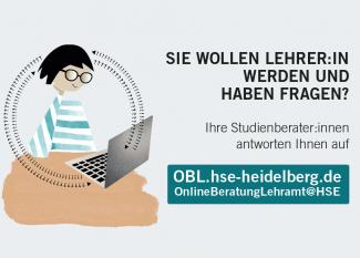 Grafik mit Link zum digitalen Beratungsportal für Studierende mit Berufsziel Lehrer/in an der Universität und der PH Heidelberg