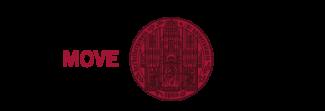 """Siegel der Universität Heidelberg mit Schriftzug """"heiMOVE"""" links und Schriftzu """"Universität Heidelberg – Zukunft seit 1386"""" rechts daneben"""